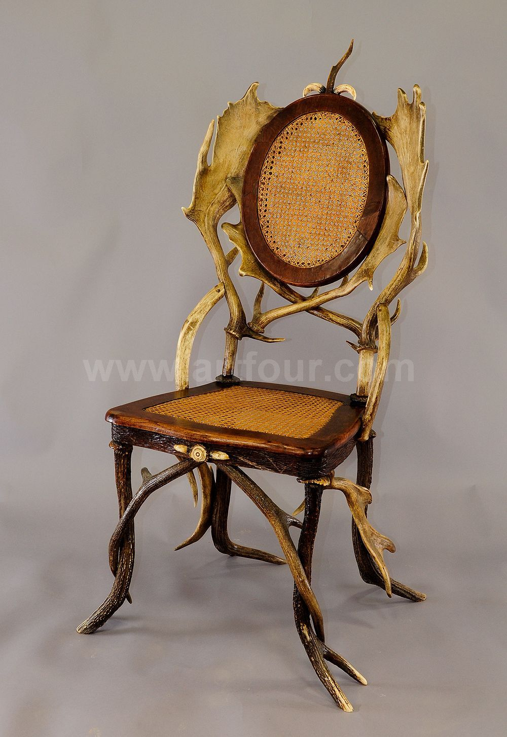 antique black forest antler parlor chair ca. 1900 Cabin