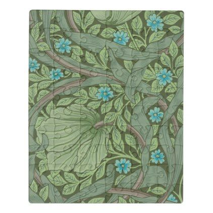 Wallpaper Pattern Sample with Forget-Me-Nots Jigsaw Puzzle - sample design diy personalize idea