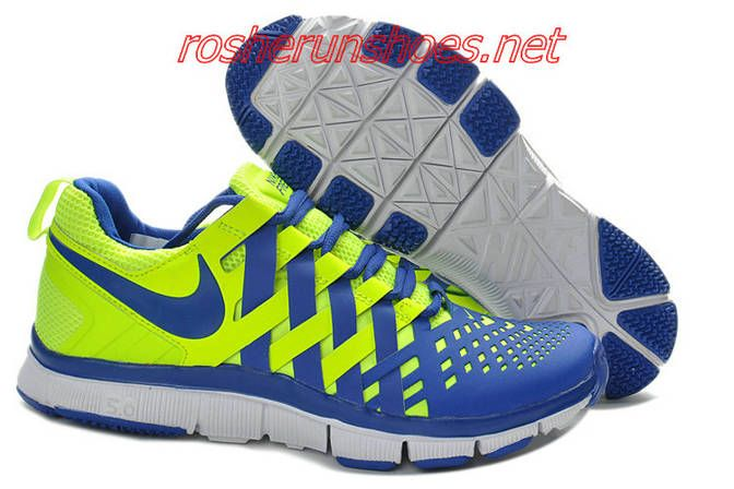 cheaper 11aea 696a4 Nike Free Trainer 5.0 Woven Volt Hyper Blue 579809 700