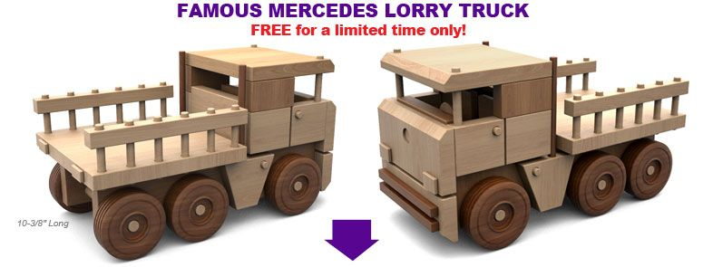 Free Mercedes Lorry Truck Wood Toy Plan Set Wooden Toys