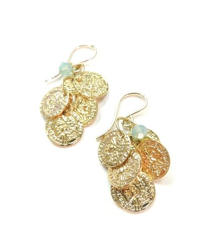 Coin Cluster Earrings