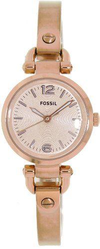 091977ff104 Fossil Georgia Mini Three Hand Stainless Steel Watch - Rose Es3268