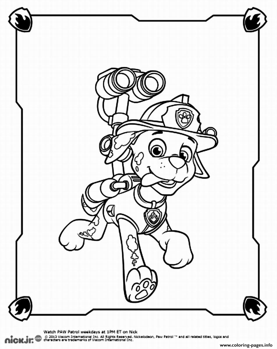 print paw patrol marshall spy coloring