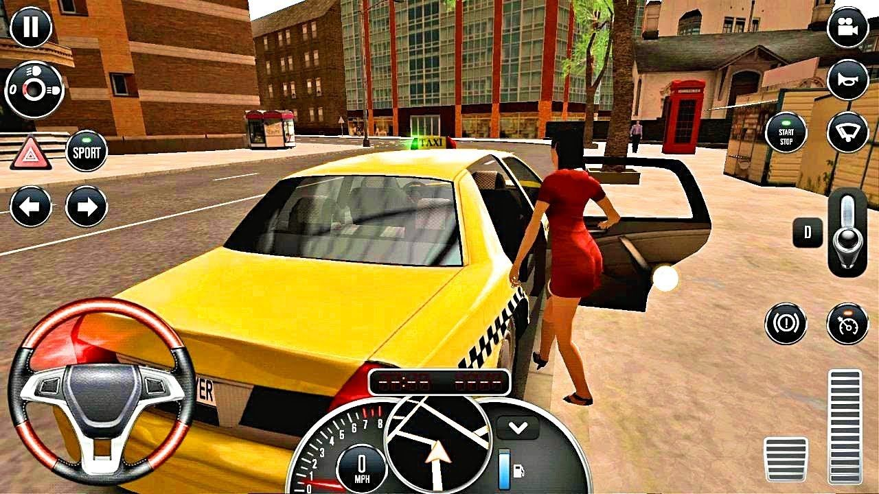 Taxi Sim 2016 1 Crazy Driver Taxi Game Android Ios Gameplay Taxi Games Android Games Car Games