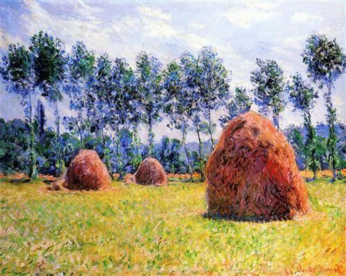 Palheiros em Giverny - Claude Monet