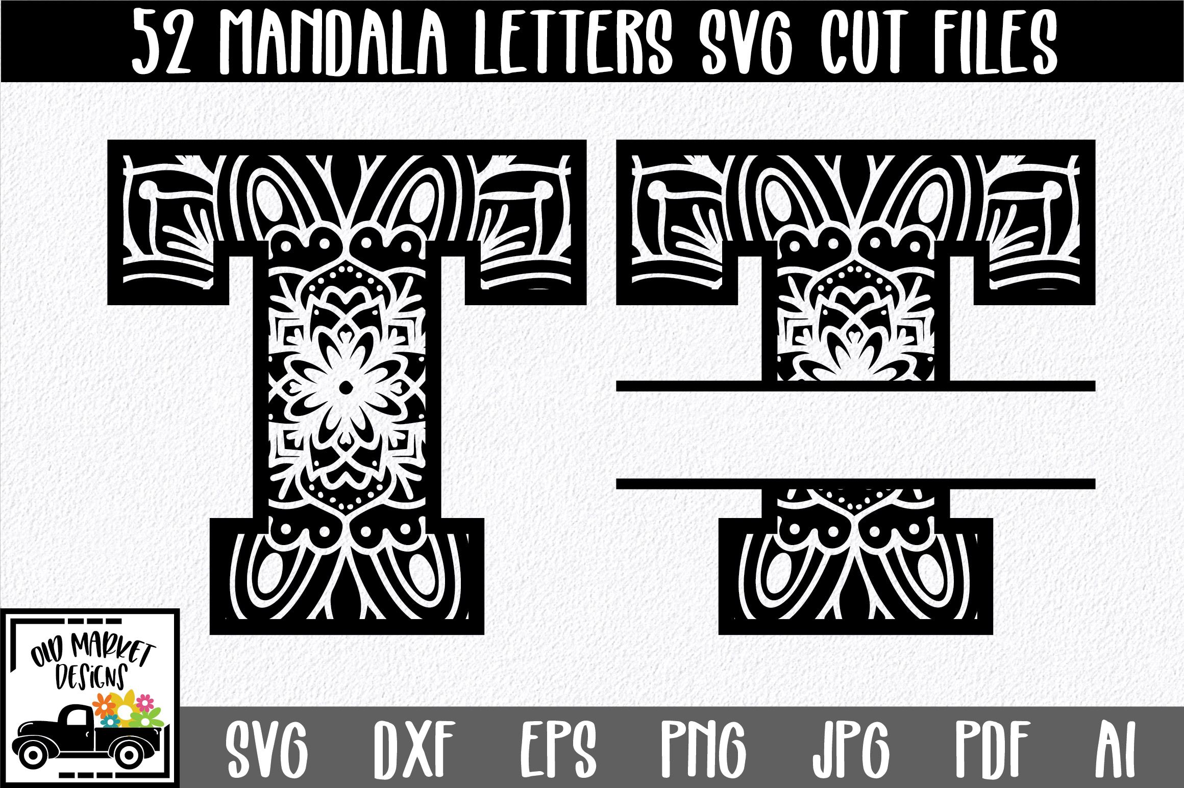 Mandala Monogram SVG Cut File Bundle  Includes 2 Sets is part of Svg cuts, Svg cutting files, Monogram svg, Mandala monograms, Cutting files, Svg - Purchase includes Zip file containing SVG, PNG, DXF, JPEG, PDF, EPS and AI file types Compatible with Silhouette Studio, Cricut Design Space, Scan N Cut, Adobe Illustrator and other cutting and design programs So Fontsy Standard Commercial Use License Also available for this product Enterprise License for High Volume and Print on Demand Services  $299
