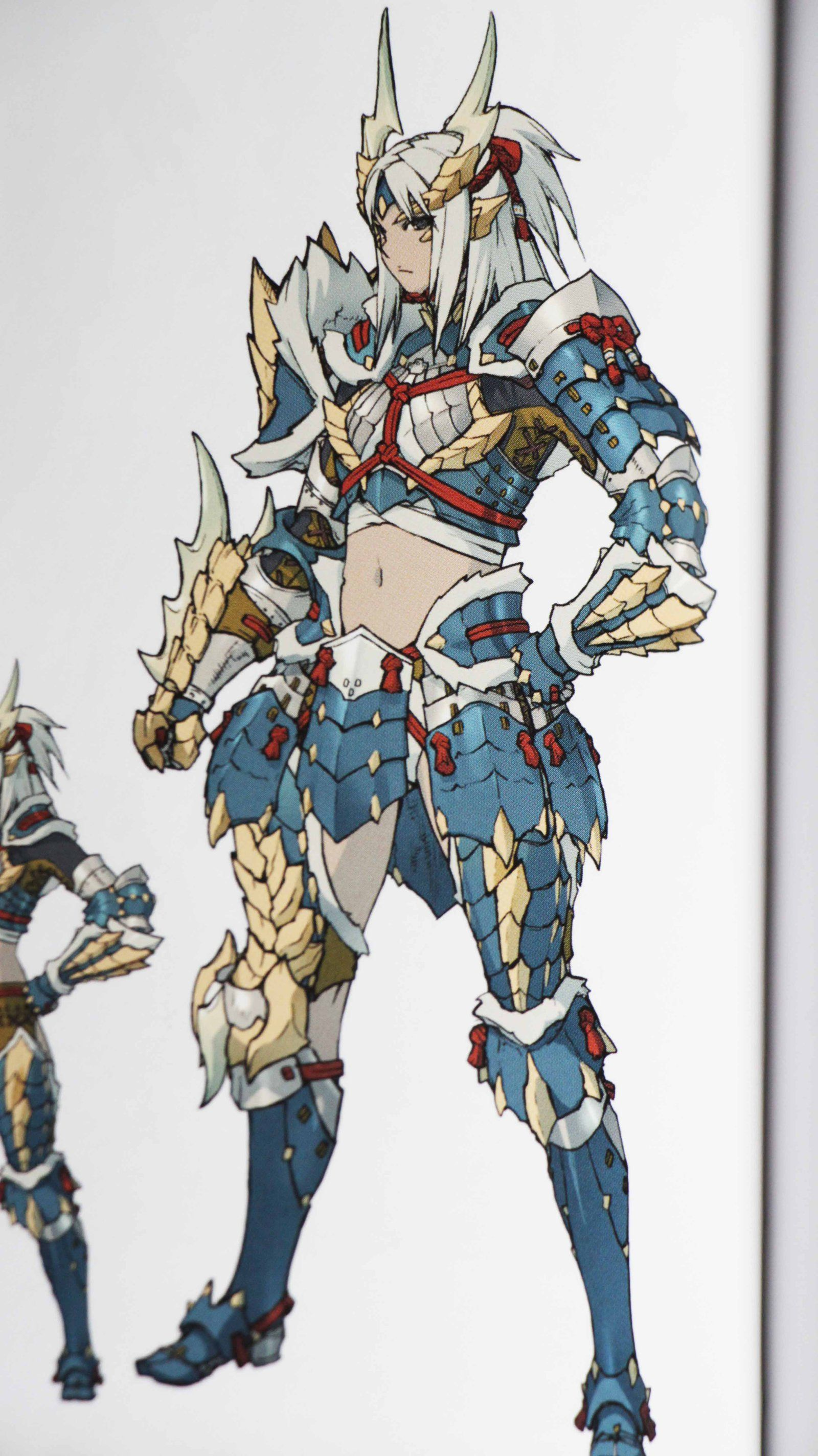 Mh Illustration 2 Zinogre Armor Female Blade By Brachydium On