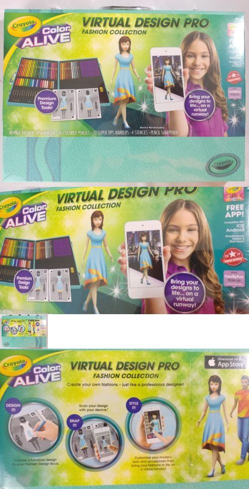 Toys Games Crayola Colour Alive Virtual Design Pro Studio Fashion Collection Case Art Set Toys Games Creative Toys Activities