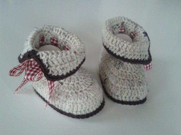Häkelanleitung Baby-Trachtenschühchen / E-Book PDF | crocheted ...