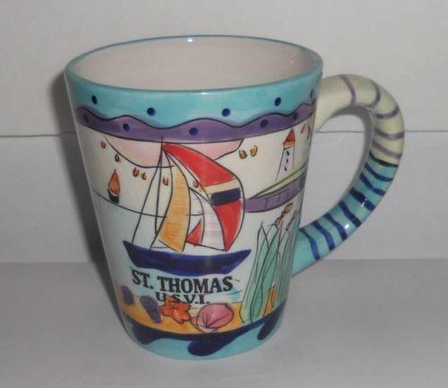 St. Thomas USVI American Gift Collector Series Coffee Tea Cup Mug Souvenir