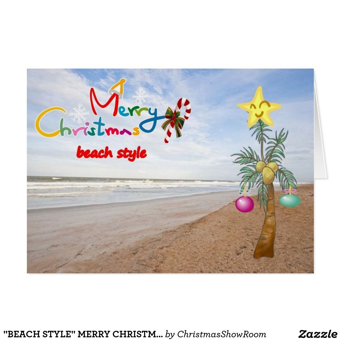 Beach style merry christmas to you card greeting cardsmuch more beach style merry christmas to you card kristyandbryce Gallery