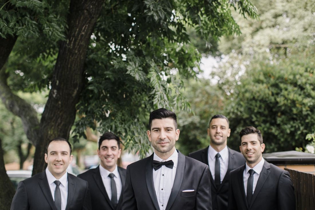 Groom and Groomsmen for A Big Fat Greek Winter Wedding | I take you