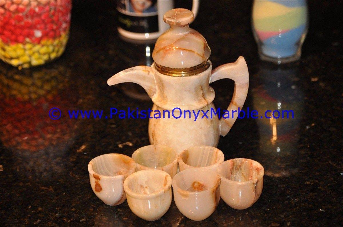 Pin von Pakistan Onyx Marble auf ONYX TEA SET KAVA TEA CUPS SETS ...