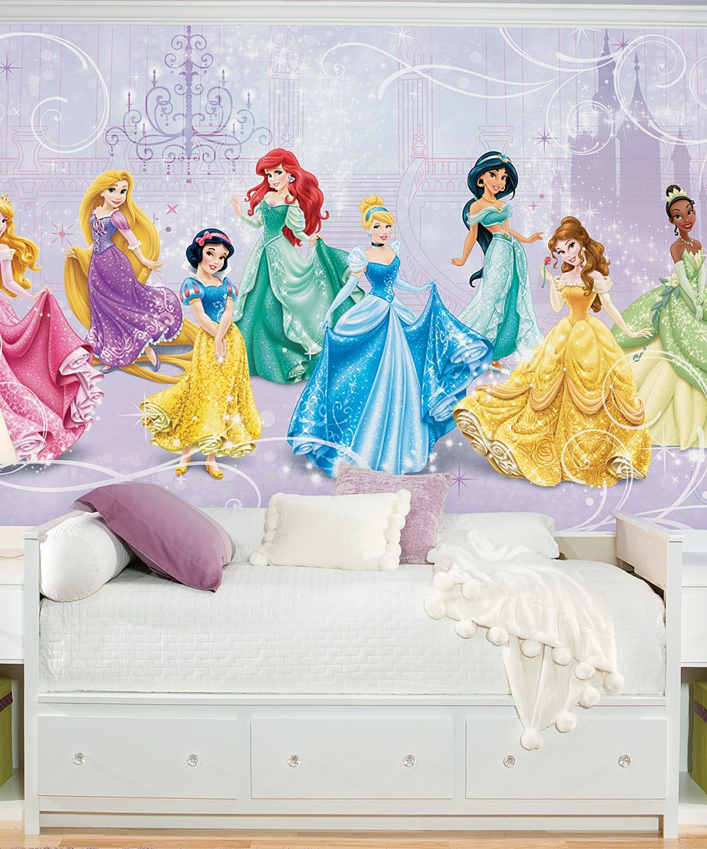 Habitaci n infantil de ni a mural de princesas beb s - Mural habitacion infantil ...