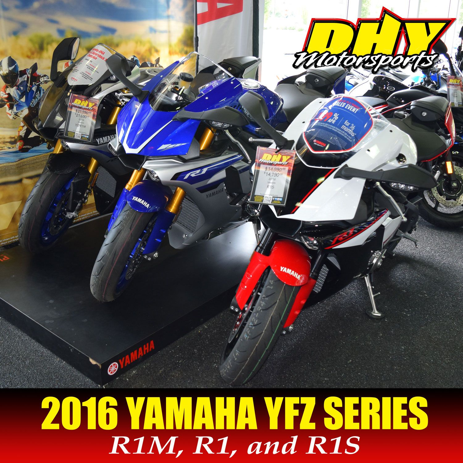 Great deals on Yamaha Motor USA YFZ series #supersport bikes; #R1S was $14,999 now $12,888; #R1 was $16,490 and $14,488; #R1M was $21,990 now $20,788.