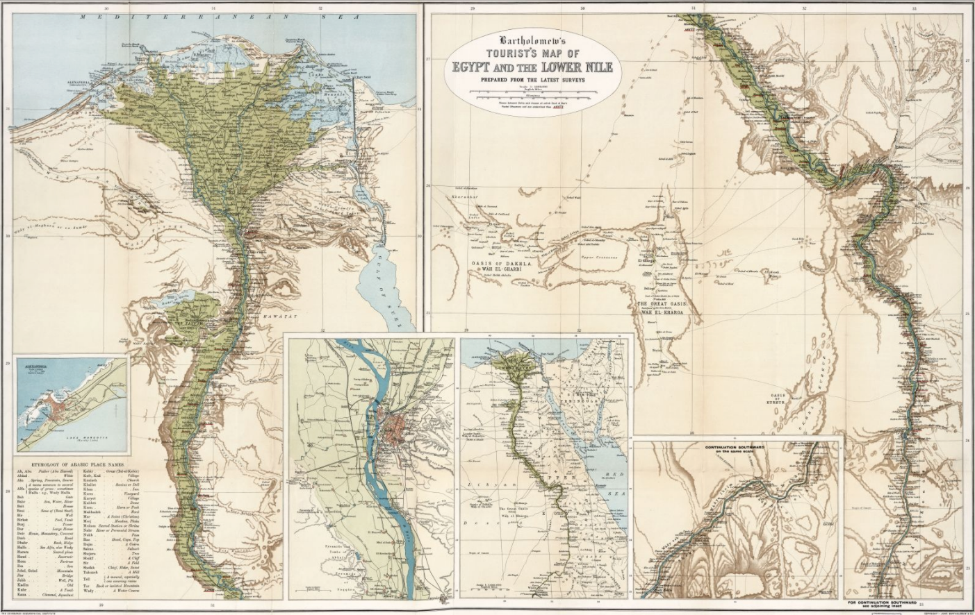 Tourists Map Of Egypt And The Lower Nile Via Big Maps Blog Free Large File Download