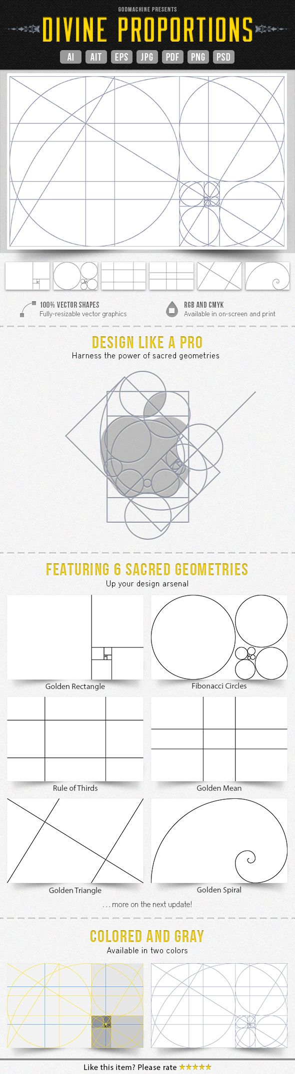 vectorized sacred geometries design logo layout apple also divine proportion rh pinterest