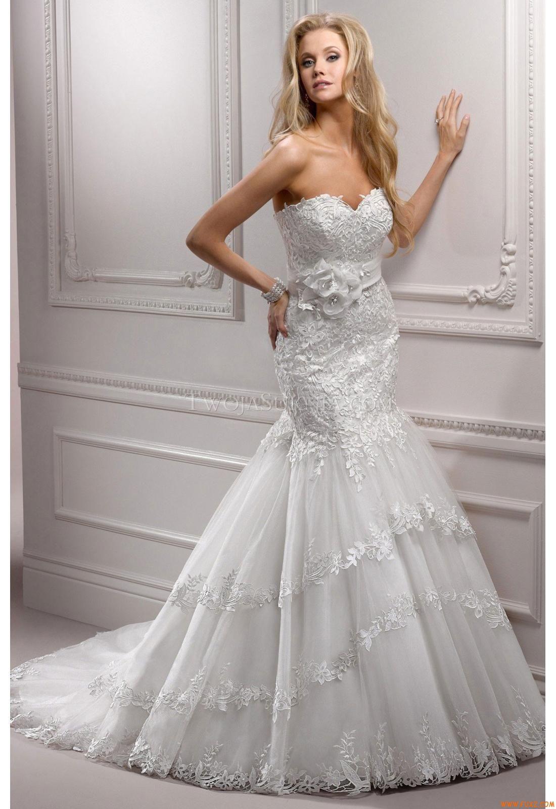 Dropped waist wedding dress  Wedding Dresses Maggie Sottero Mandy Symphony  wedding dresses