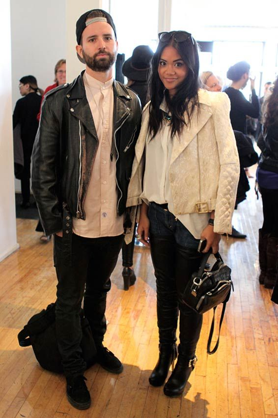 Toronto Fashion Week: Hot Style at The Burroughs Building: Motorcycle jacket His 'n' Hers