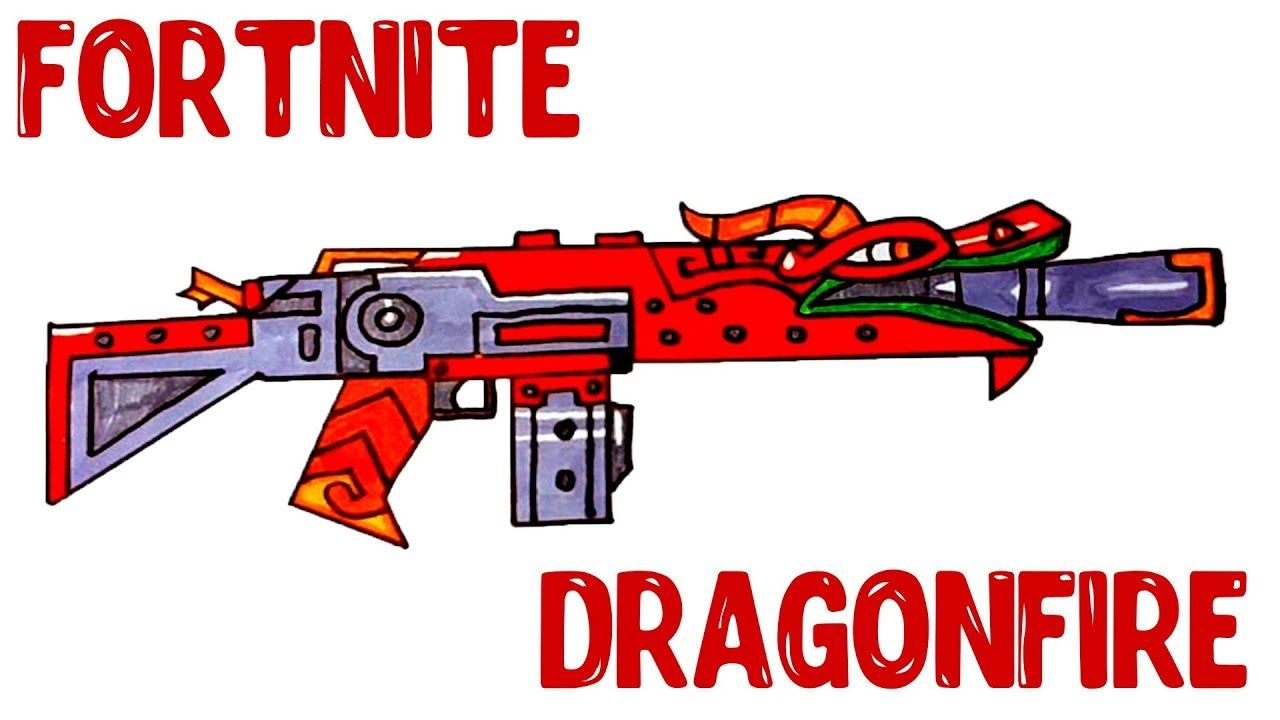 How To Draw Dragonfire Fortnite Guns Step By Step Drawing