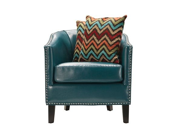 Kelso Accent Chair Peacock Blue Accent Chairs Chair Blue