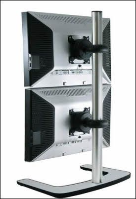 Vertical Dual Monitor Stand Monitor Stands Pinterest