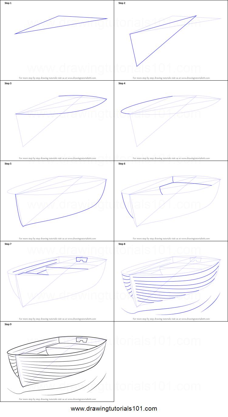 Comment Dessiner Un Bateau A Quai Feuille De Dessin Imprimable Etape Par Etape Drawingtutorials101 Com Dessin De Bateau Dessin Feuille Dessins D Art Au Crayon