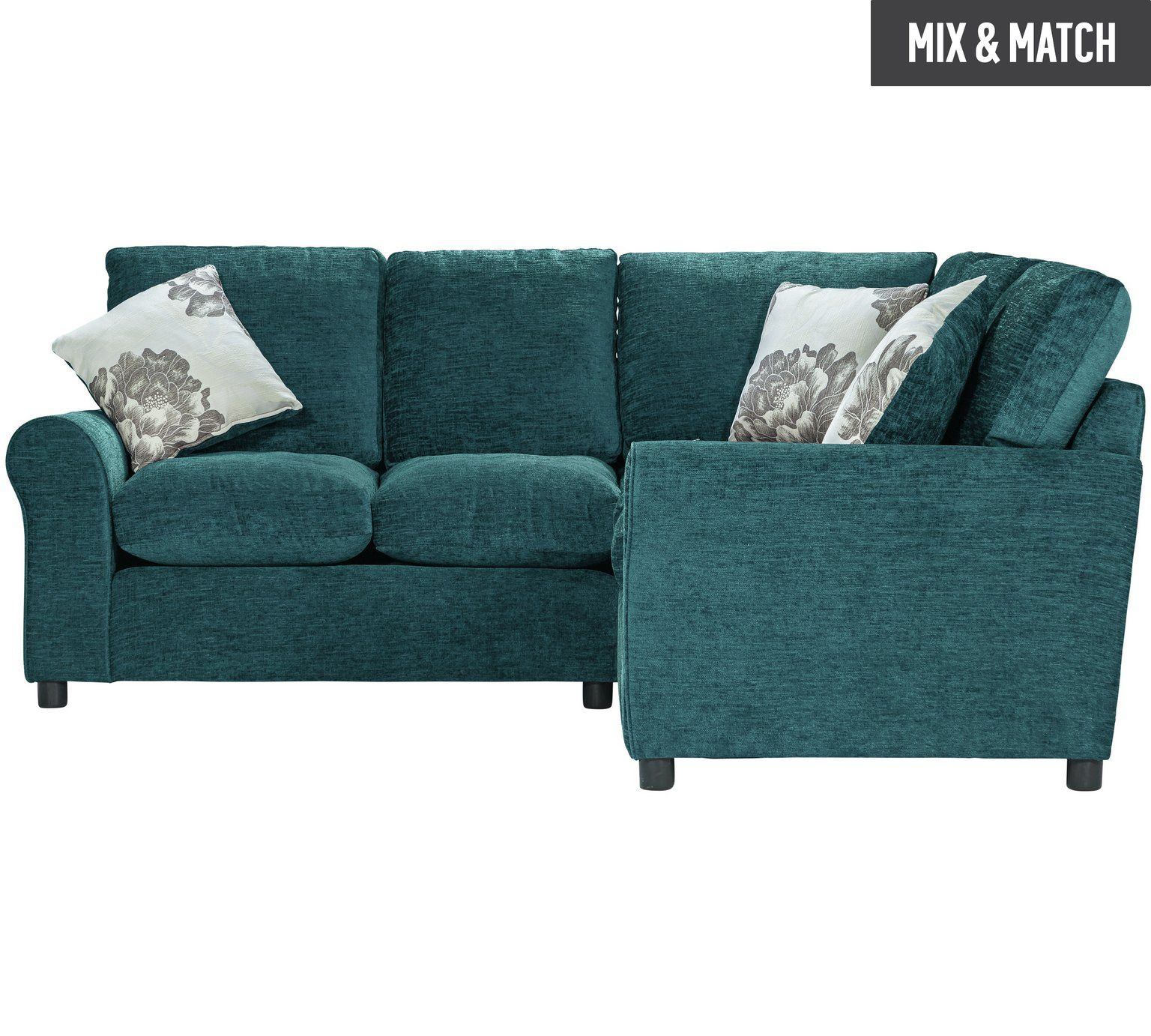 Buy Home Tessa Fabric Dual Facing Corner Sofa Teal At Argos Co Uk Your Online Shop For Sofas Living Room Furniture Home Teal Sofa Corner Sofa Argos Home