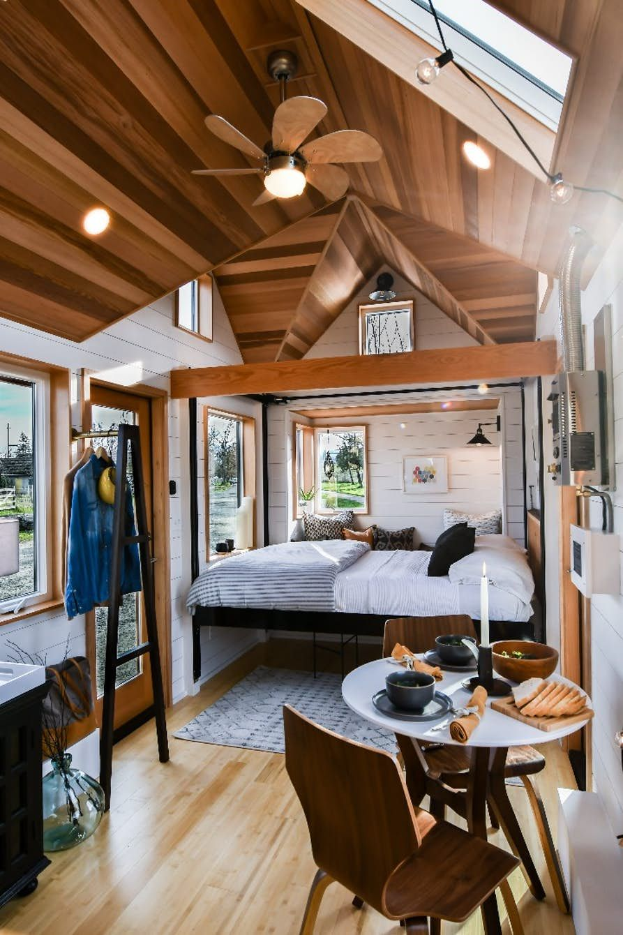 Photo of Elevating bed provides tiny house interior flexibility
