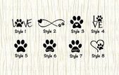 Love Paw Animal Car Decal, Dog Love Paw Word Decal, Paw Infinity Decal, Rescue Decal, Adopt D...
