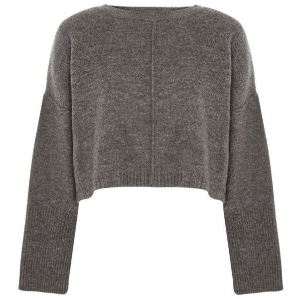 Women's Topshop Wide Sleeve Crop Sweater ($55) ❤ liked on