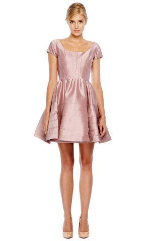 Zac Posen Silk Faille Rose Pink Dress
