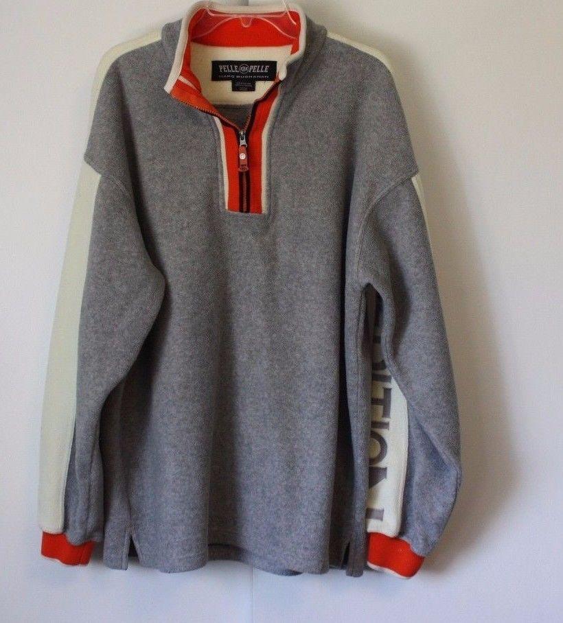 5852cd89a Vintage Pelle Pelle Marc Buchanan Sweatshirt Gray Orange Expedition No 78   PellePelle