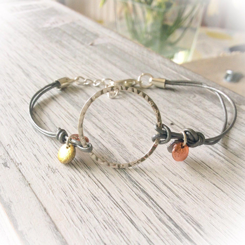 Boho bracelet minimalist leather jewellery simple