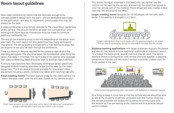 Cisco Video Conferencing Room Primer General Guidelines For Room