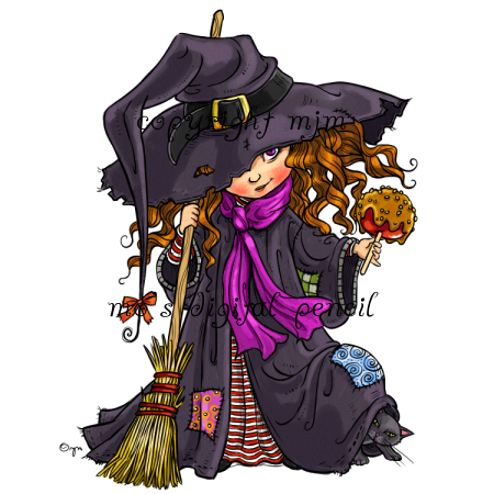 Candy Apple Witch Halloween Graphics Halloween Illustration Witch Pictures