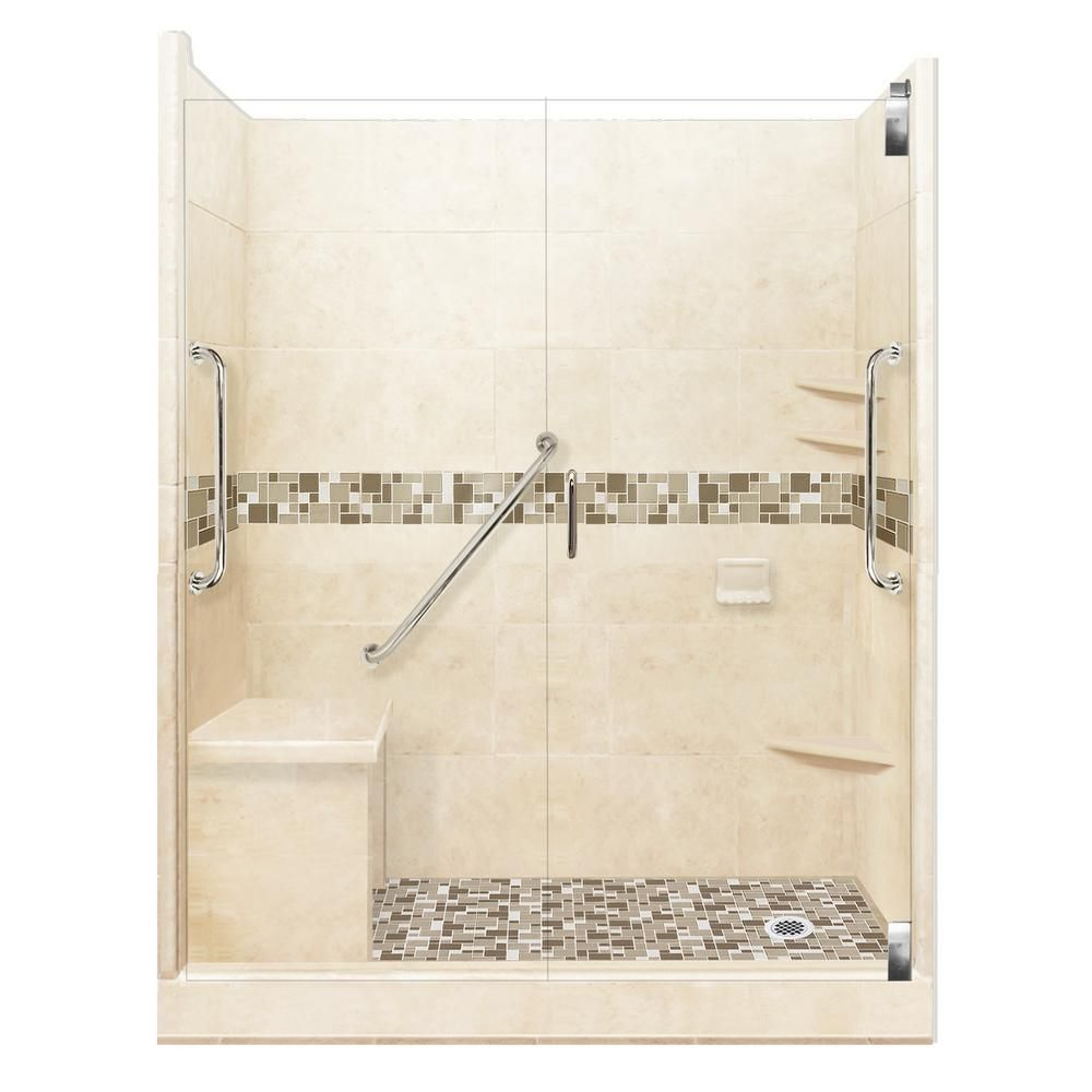 American Bath Factory Tuscany Freedom Grand Hinged 30 In X 60 In