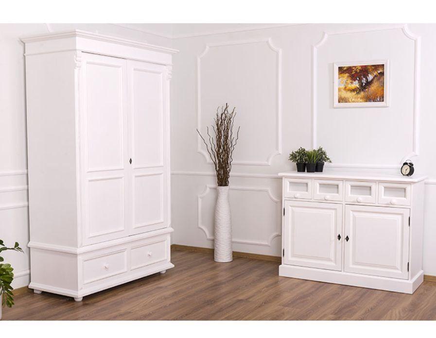 Kleiderschrank Zweitürig B/T/H 127x61x206 Massivholz Pinie Landhausmöbel Im  Onlineshop