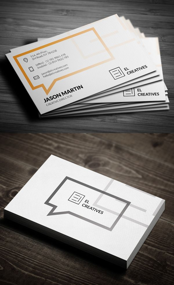 Business Cards Design: 50+ Amazing Examples to Inspire You - 35 ...