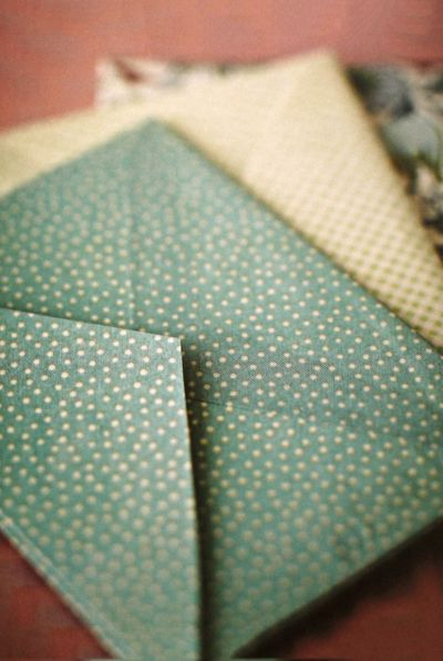 Handmade Wedding: dotted envelopes (via A Field Journal) - So I just am kinda obsessed with gorgeous paper.  Also nice thing about a smaller wedding is you can go all out with stuff like invitations and what not.