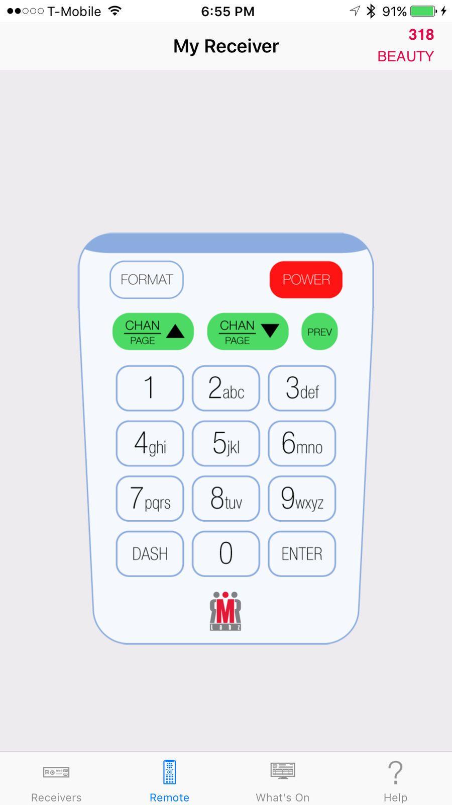 DirectVR Lite Remote for DirecTV UtilitiesLabzios