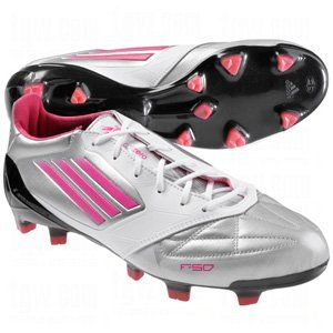 Adidas F50 Adizero Fg White Silver Pink Leather Soccer Cleats Women Shoes V21440 9 Adidas 149 99 Women Shoes Leather Soccer Cleats Shoes