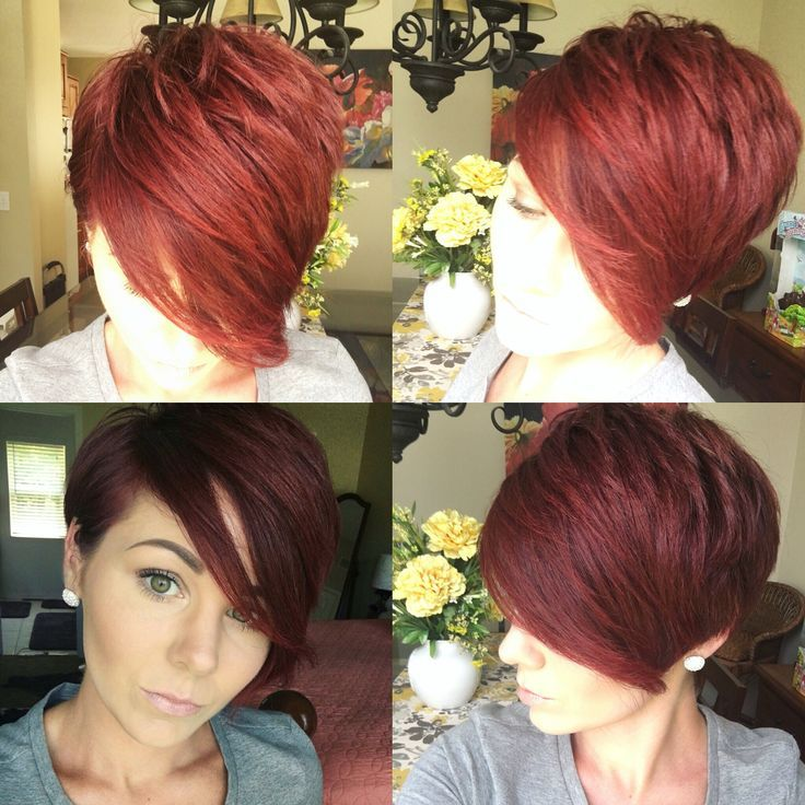 Pixie360 pixie redhair long pixie cut tucked behind the ear on one side i hair - Coupe courte femme brune ...