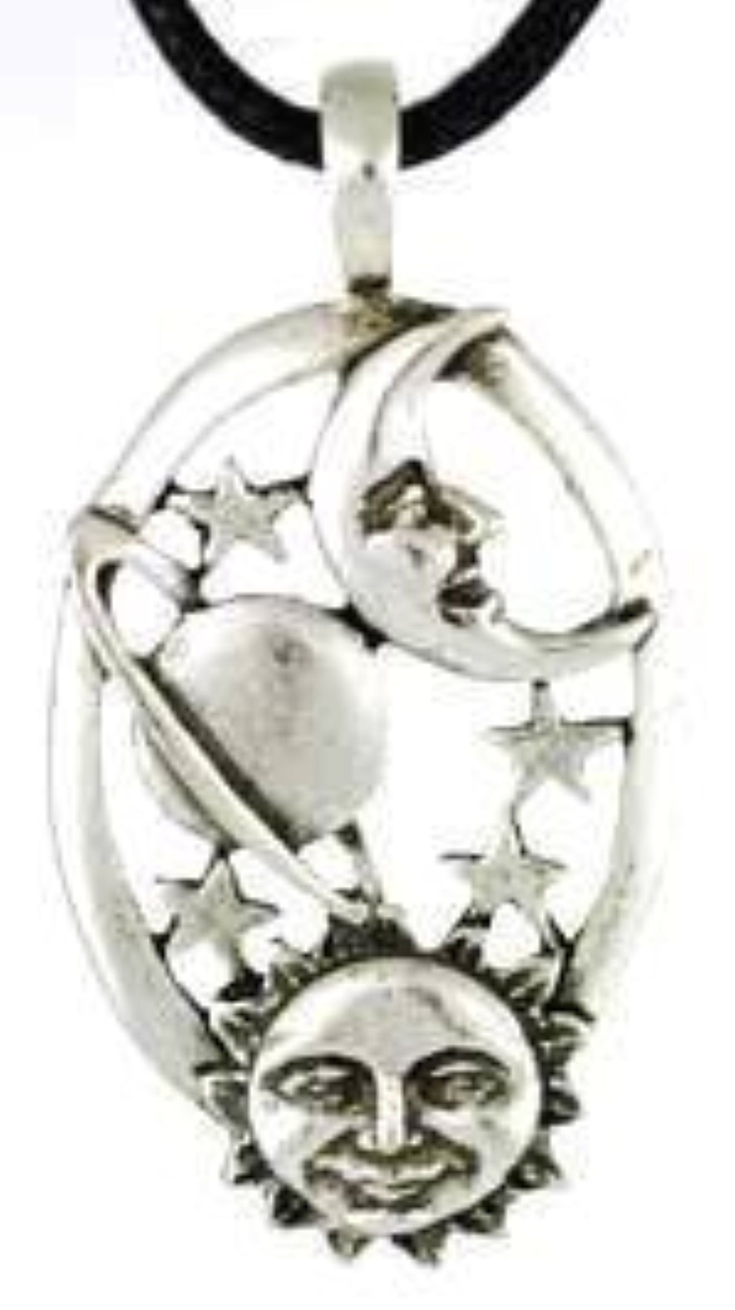 pendant jewelry by stone necklace product moon schwartz allen sun abs accented gallery silver in
