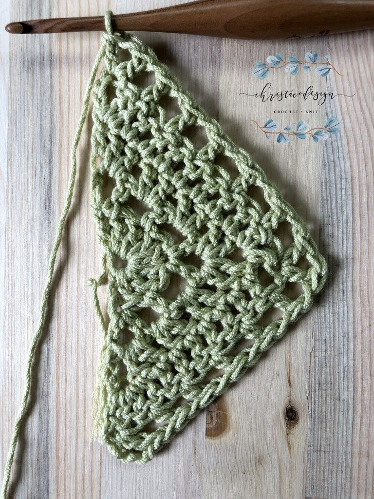 Lilla Shawl a Free Crochet Triangle Shawl Pattern - ChristaCoDesign