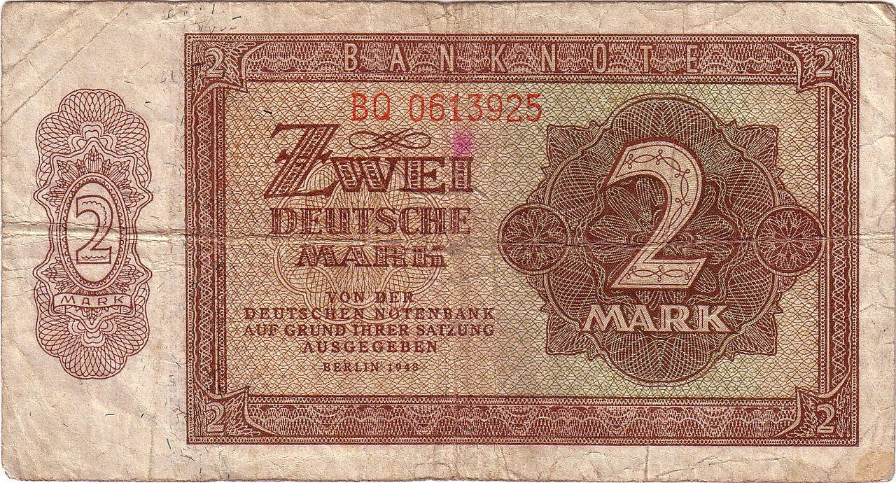 2 Deutsche Mark Ddr 1848 Jpg Altes Geld Ddr Geld Leben In Der Ddr