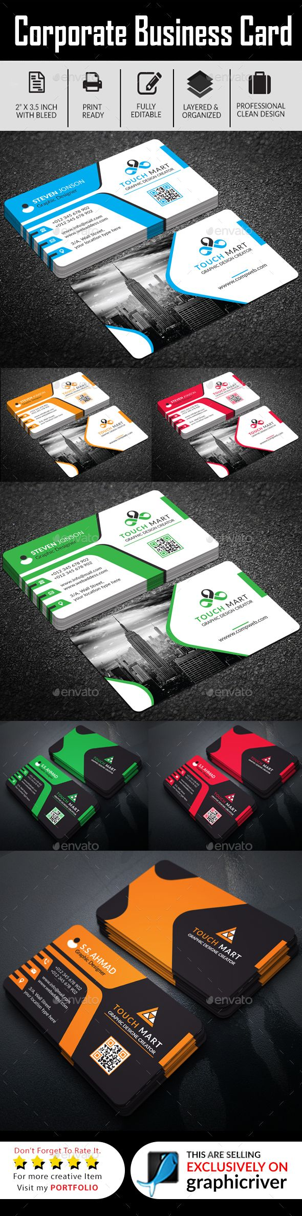 Business card bundle ai eps business cards print templates business card bundle ai eps business card templatesbuy reheart Images