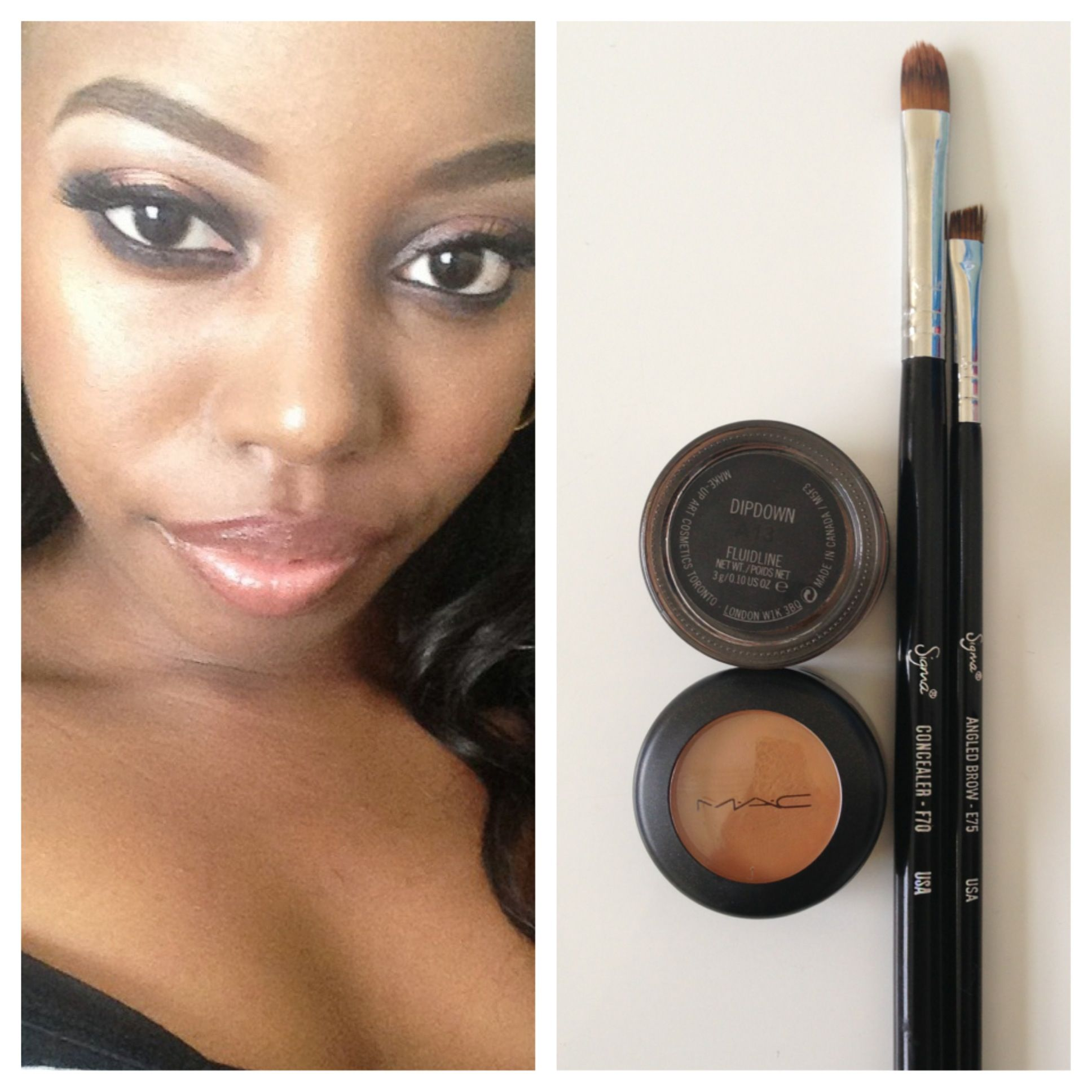Products I Use For My Eyebrows Mac Studio Finish Concealer Nw40 Mac Fluidline In Dipdown Brushes Are Concealer Brush Mac Studio Finish Concealer Brow Brush