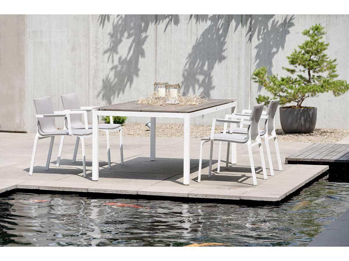 Stern Gartentisch Tischsystem Aluminium Weiss Silverstar 2 0 Dekor