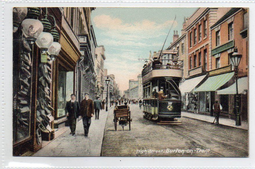 Postcard High Street Burton On Trent Staffordshire Burton On